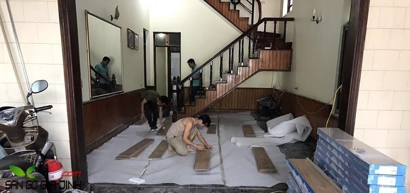 cách thi công sàn gỗ