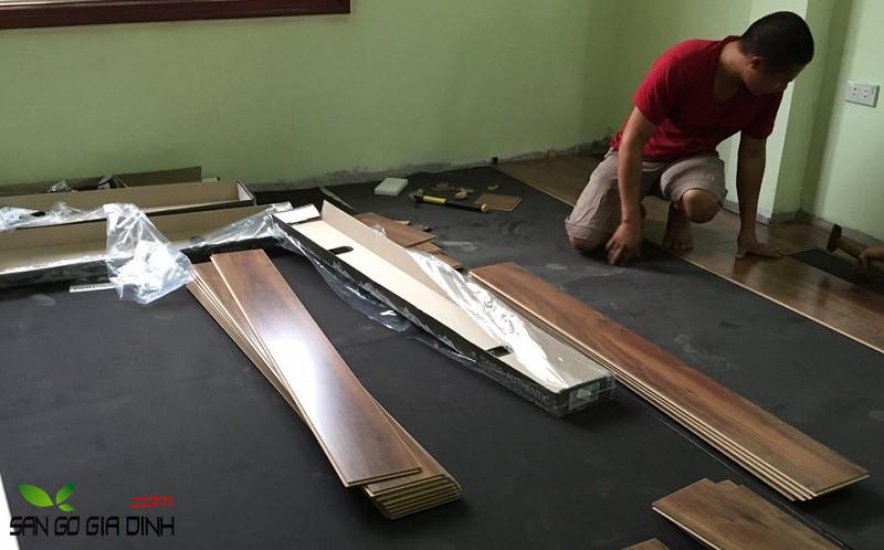 giá thi công sàn gỗ