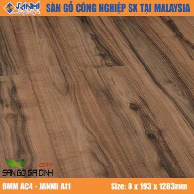 Sàn gỗ Janmi A11 8mm bản to