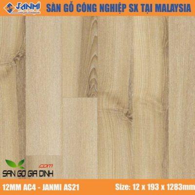 Sàn gỗ Janmi AS21 12mm bản to