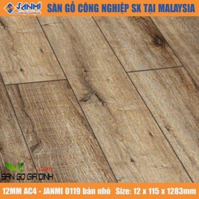 Sàn gỗ Janmi O119 12mm bản nhỏ