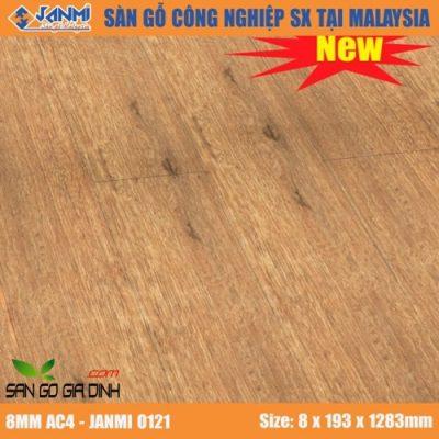 Sàn gỗ Janmi O121 8mm bản to