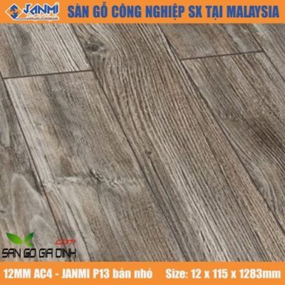 Sàn gỗ Janmi P13 12mm bản nhỏ