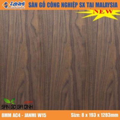Sàn gỗ Janmi W15 8mm bản to