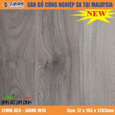 Sàn gỗ Janmi W16 12mm bản to