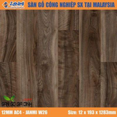 Sàn gỗ Janmi W26 12mm bản to