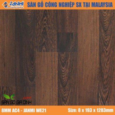 Sàn gỗ Janmi WE21 8mm bản to