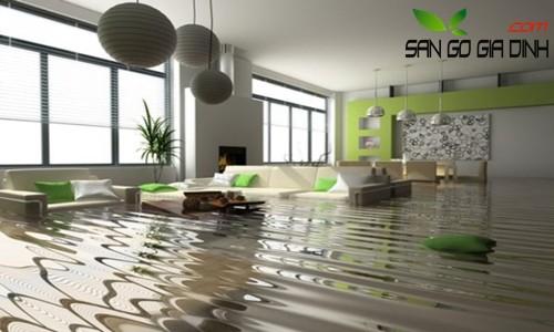 Sàn gỗ bị ngập nước