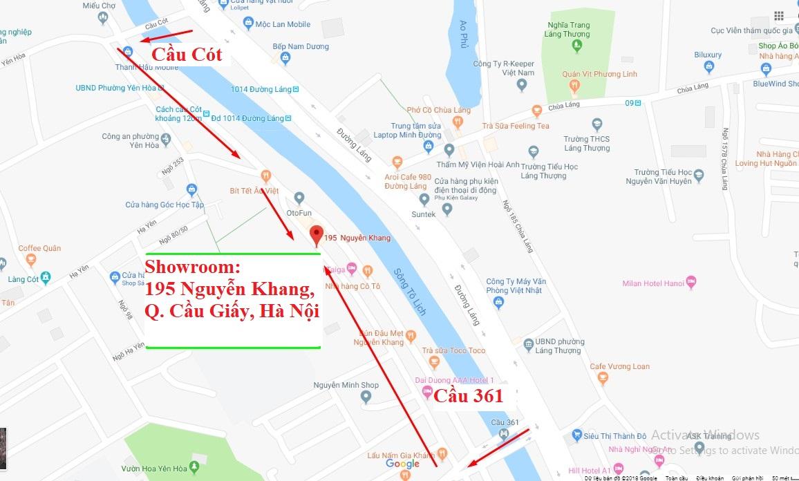 Bản đồ chỉ đường đến sàn gỗ 195 Nguyễn khang