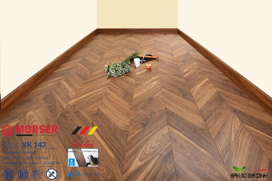 Sàn gỗ Morser Xương Cá XK142 3