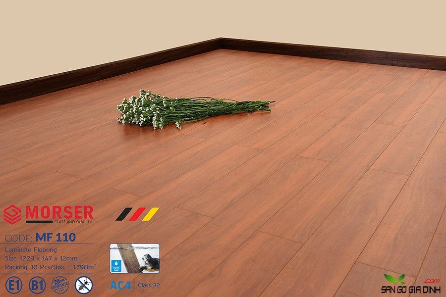 Sàn gỗ Morser cốt trắng 12mm MF110 1