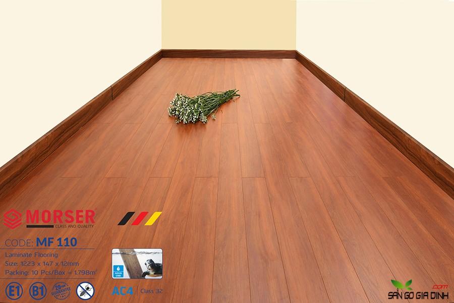 Sàn gỗ Morser cốt trắng 12mm MF110 3