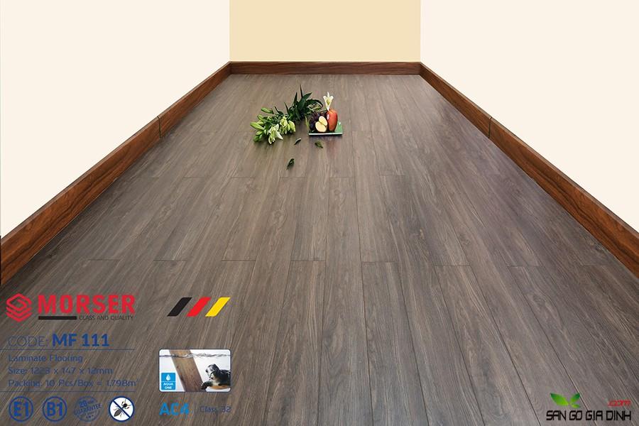 Sàn gỗ Morser cốt trắng 12mm MF111 1