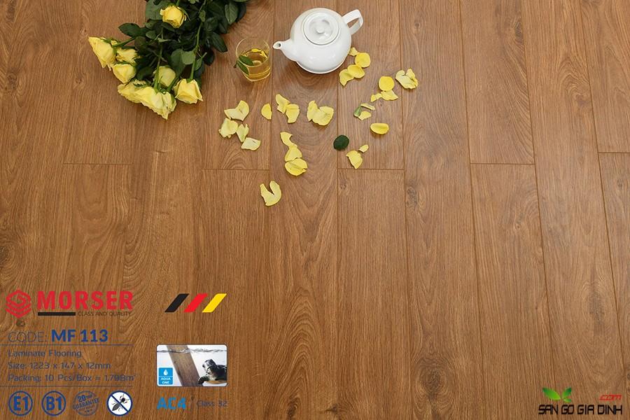 Sàn gỗ Morser cốt trắng 12mm MF113 3