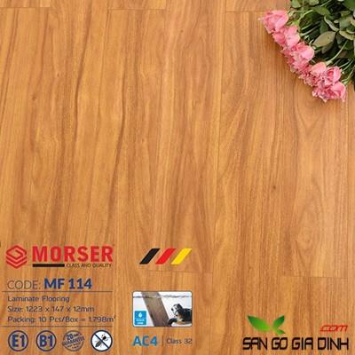 Sàn gỗ Morser cốt trắng 12mm MF114