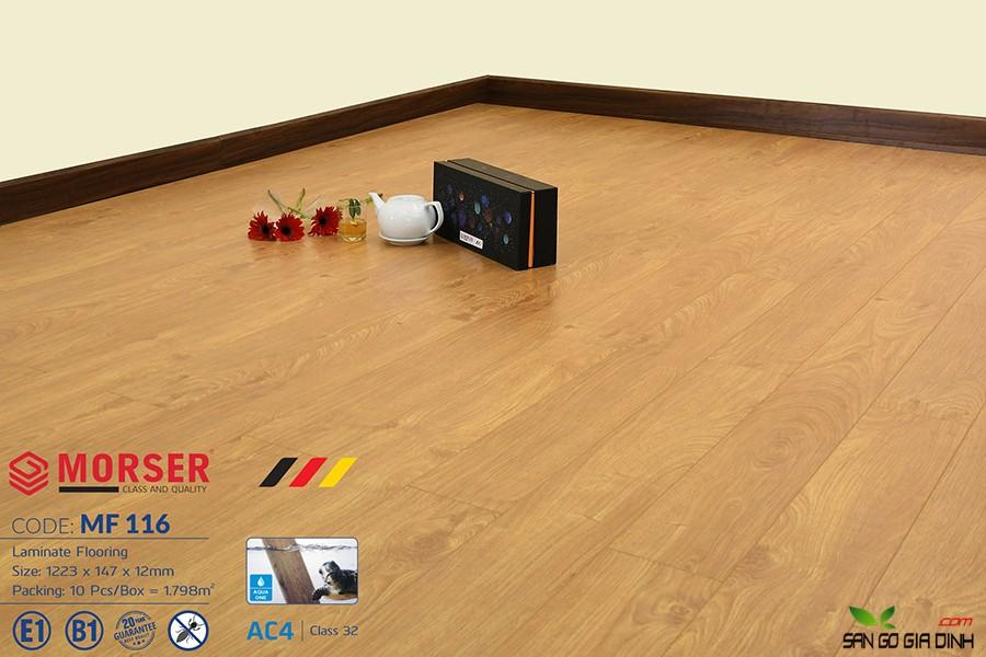 Sàn gỗ Morser cốt trắng 12mm MF116 2