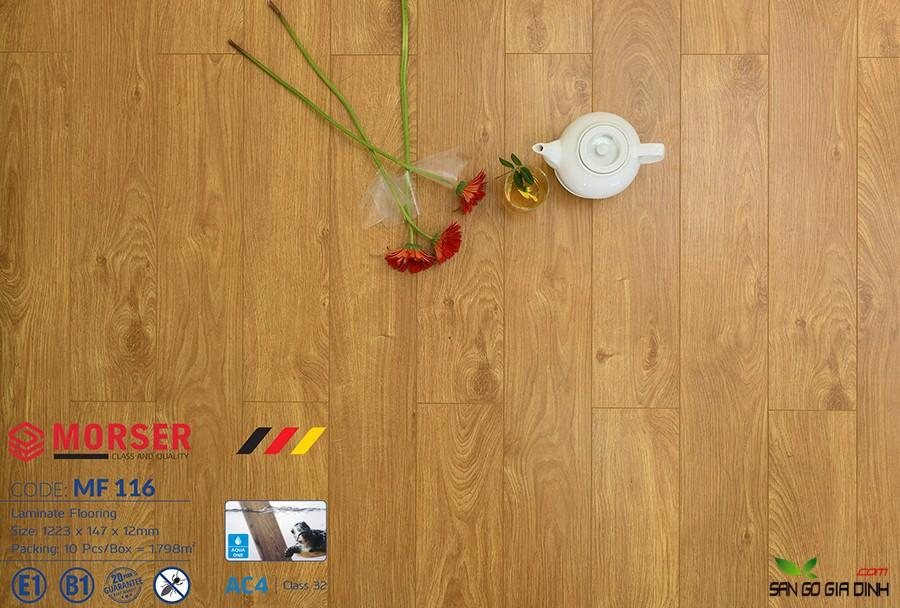 Sàn gỗ Morser cốt trắng 12mm MF116 3