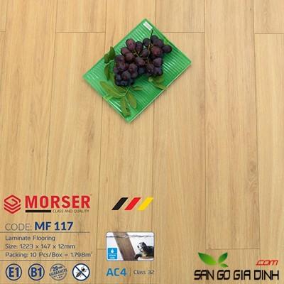 Sàn gỗ Morser cốt trắng 12mm MF117