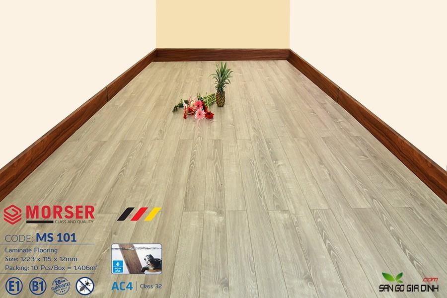 Sàn gỗ Morser cốt xanh 12mm Ms101 1