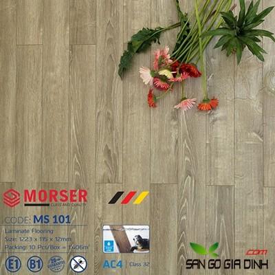 Sàn gỗ Morser cốt xanh 12mm Ms101