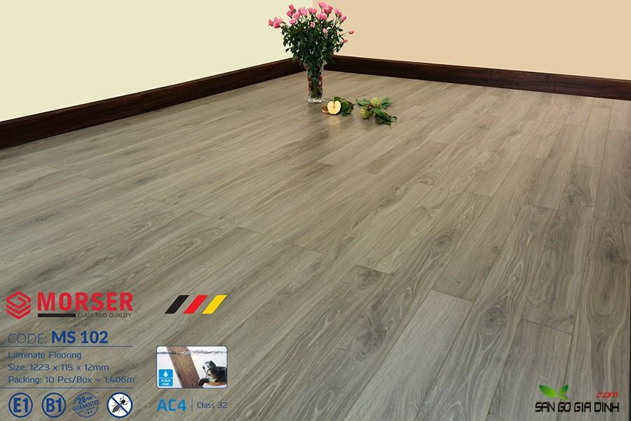 Sàn gỗ Morser cốt xanh 12mm Ms102 1