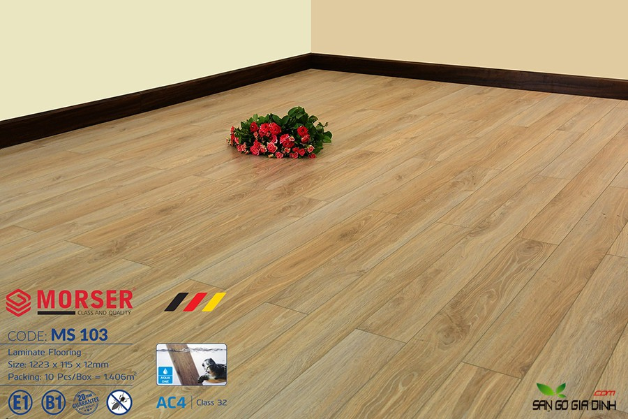 Sàn gỗ Morser cốt xanh 12mm Ms103 2
