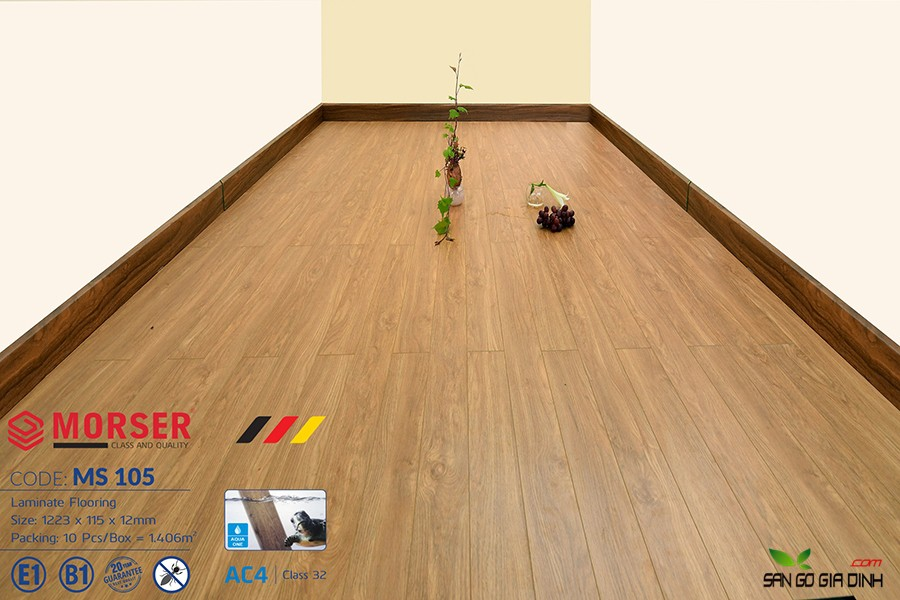 Sàn gỗ Morser cốt xanh 12mm Ms105 1