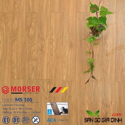 Sàn gỗ Morser cốt xanh 12mm Ms105