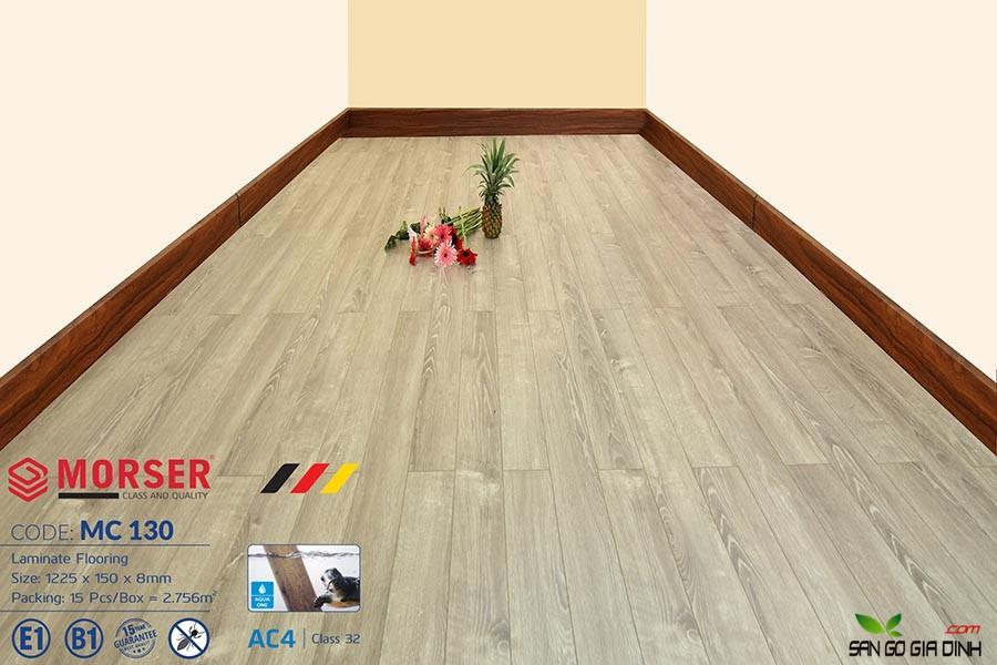 Sàn gỗ Morser cốt xanh 8mm MC130 1
