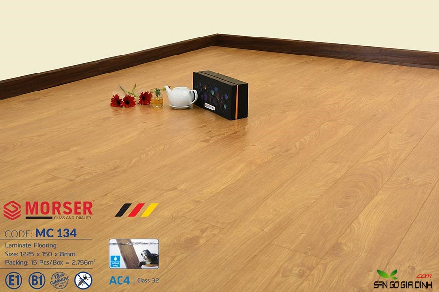 Sàn gỗ Morser cốt xanh 8mm MC134 3