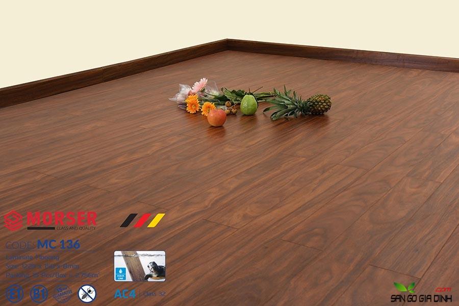 Sàn gỗ Morser cốt xanh 8mm MC136 3