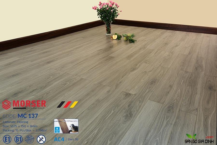Sàn gỗ Morser cốt xanh 8mm MC137 2