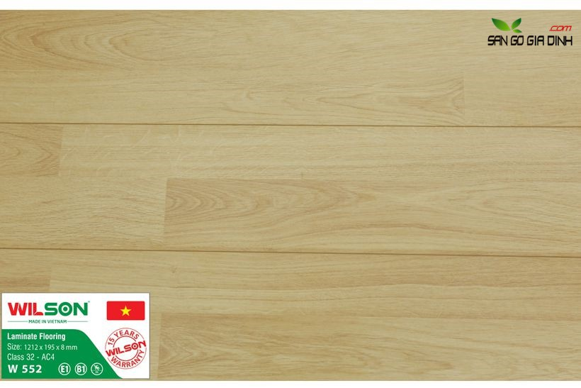 Sàn gỗ Wilson W552 - 8mm 1