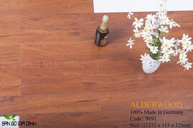 Sàn gỗ Alder 9191 bản nhỏ 12mm2
