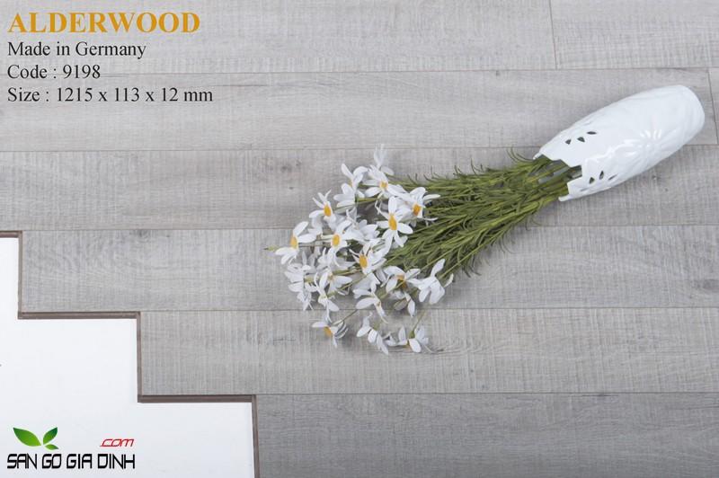 Sàn gỗ Alder 9198 bản nhỏ 12mm2