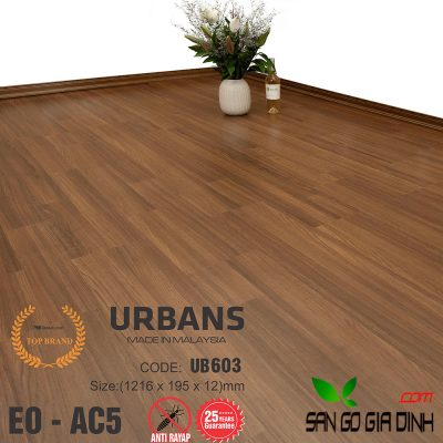 Sàn gỗ UrbansFloor 12mm UB603