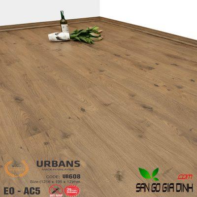 Sàn gỗ UrbansFloor 12mm UB608