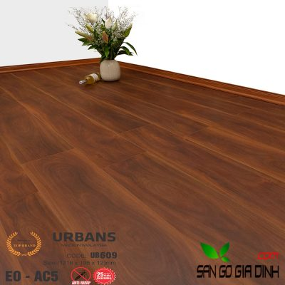 Sàn gỗ UrbansFloor 12mm UB609