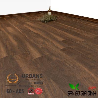 Sàn gỗ UrbansFloor 12mm UB821