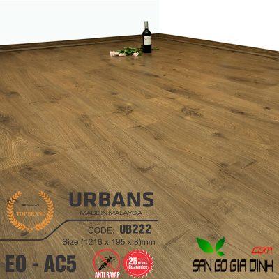 Sàn gỗ UrbansFloor 8mm UB222
