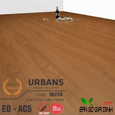 Sàn gỗ UrbansFloor 8mm UB229