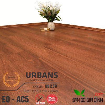 Sàn gỗ UrbansFloor 8mm UB239