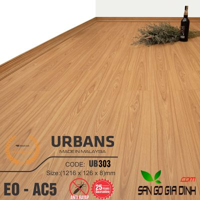 Sàn gỗ UrbansFloor 8mm UB303-1