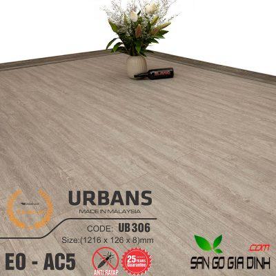 Sàn gỗ UrbansFloor 8mm UB306