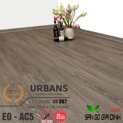 Sàn gỗ UrbansFloor 8mm UB307
