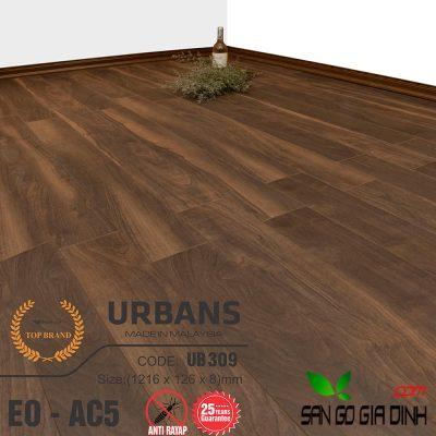 Sàn gỗ UrbansFloor 8mm UB309