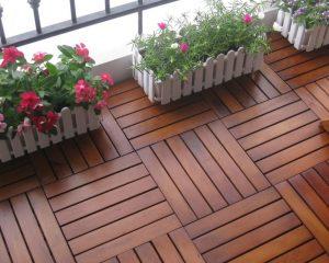 Sàn gỗ ban công chung cư